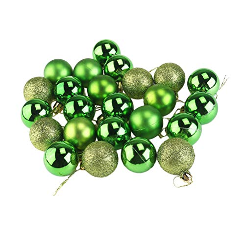 12pcs 3cm Christmas Tree Hanging Ornaments Ball Pendant Christmas Holiday Home Party Decoration (Green) (Christmas Ball Ornament Holiday)
