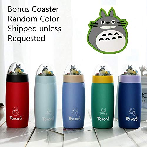 Cartoon Character My Neighbor Totoro Thermos Bottle Stainless Steel Vacuum Cup Thermal Mug Tumbler Tea Coffee Mug Kid Student Christmas Gift (Totoro Dome ()