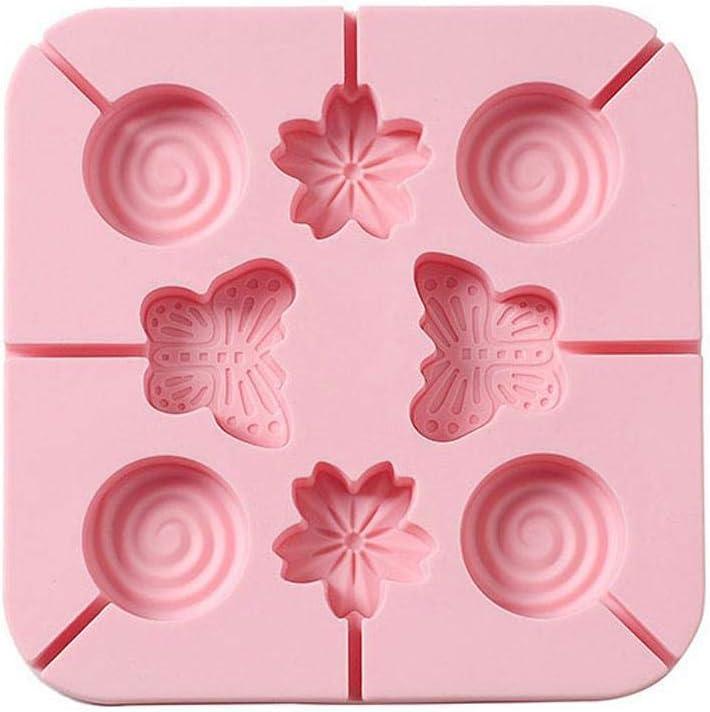 kemanner Stampo in Silicone Cioccolato Lecca-Lecca Simpatico attrezzo Fai-da-Te da Forno a Forma di Cartone Animato Accessori e Utensili per Pasticceria