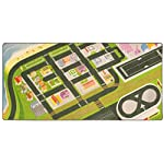 "Imagination Generation Mini Metropolis City Play Rug - 39"" x 79"" Nylon Kids Activity Carpet Flooring Playmat for Toy Cars"