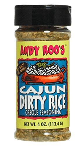 Andy Roo's Salt-Free Cajun Dirty Rice Creole Seasoning, 4 Ounce Shaker