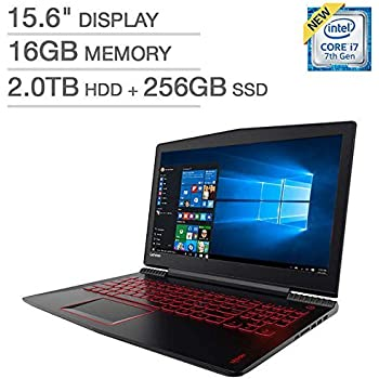 "Lenovo Legion Y520 Gaming Laptop: 15.6"" FHD (1920x1080), Intel Core i7-7700HQ, 16GB DDR4, 256GB SSD + 2TB HDD, NVIDIA GTX 1050Ti 4GB, Backlit Keys, Windows 10 (Certified Refurbished)"