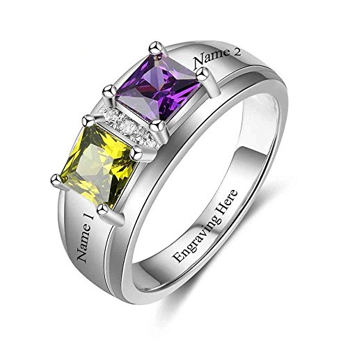 Lam Hub Fong Personalized Pomise Rings For Her Birthstone Rings Customized Engagment Rings For Women (6)
