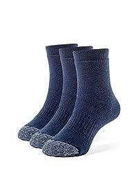 Galiva Girls' Cotton Extra Soft Quarter Cushion Socks - 3 Pairs