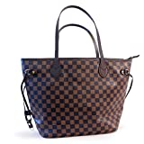 Got Oil Supplies Essential Oils Travel Bag - Organizer Tote with 16 Storage Pouches for Oil Bottles - Checkered Brown & Black Purse for Accessories and Containers