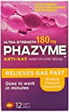 Phazyme Ultra Strength Gas Relief, 12 Softgels (Pack of 3)
