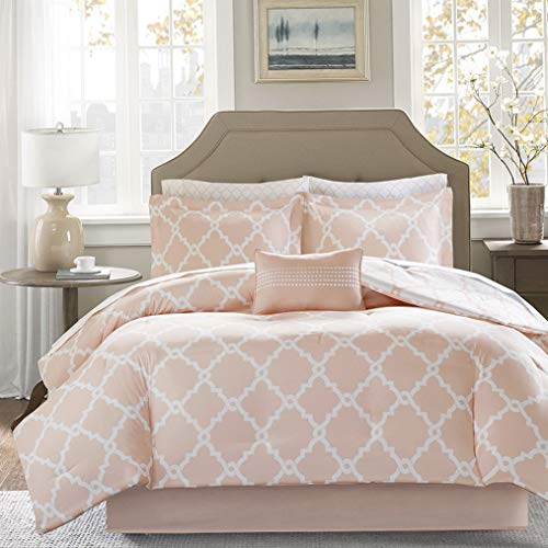 - Hemau Premium New Soft Essentials Merritt Reversible Bed Cotton Sheet Comforter Set, Twin XL Size Blush   Style 503196065