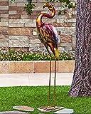 Colorful Vibrant Iron Metallic Bird Decor Garden Outdoor Decoration (flamingo) Review