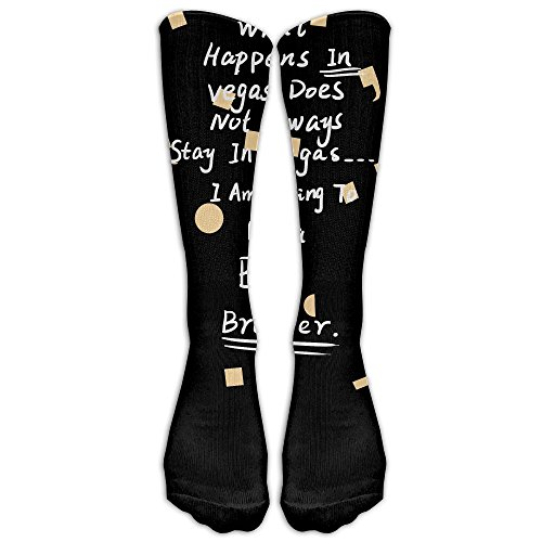 [Unisex Knee High Long Socks What Happens In Vegas Doesn't Stay In Vegas! I Am Going To Be A Big Brother Shirt Sport Wrist Socks ZHONGJIAN] (Costumes For Sale In Las Vegas)