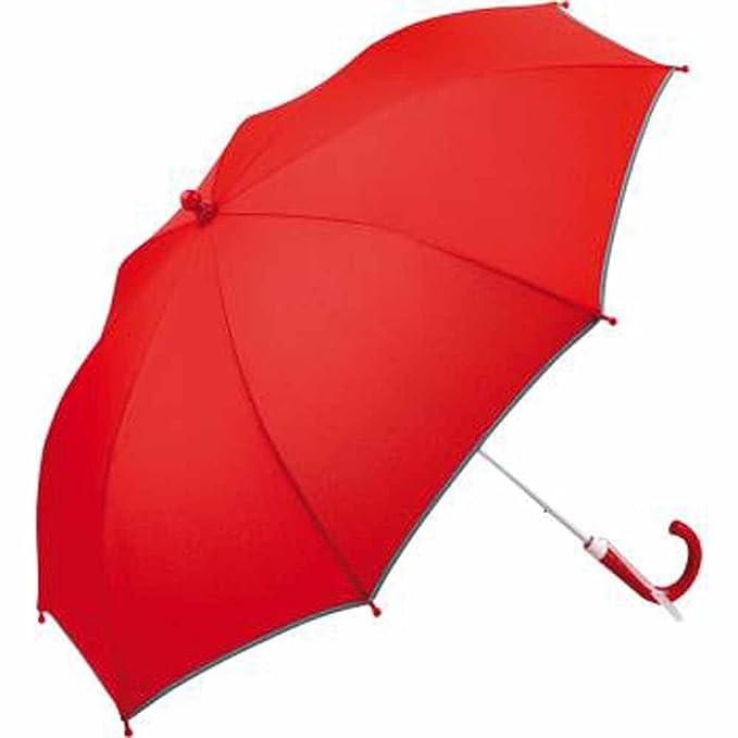Fare – Paraguas de seguridad 6902, Paraguas infantil tipo bastón Rojo rojo