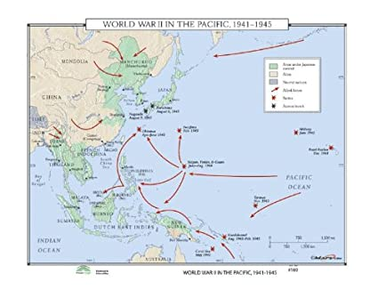 Amazon.com: World History Wall Maps - World War II in the Pacific ...