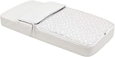 Edredón/saco ajustable y desenfundable,Incluye sábana bajera,Sistema de apertura con cremallera