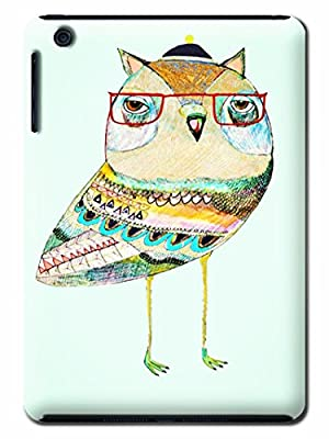 Sammicase DIY Cusotmize Adorable Owl Hark Skin Protective Case Cover for Ipad Mini