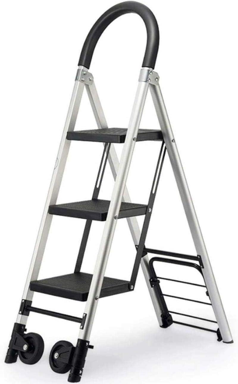 DY Una Escalera Plegable de Aluminio del Marco telescópico Extensible Extensión Pasos escaleras portátiles Plegables de Interior al Aire Libre de la Capacidad de Carga 330lbs: Amazon.es: Hogar
