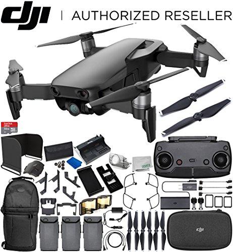 Cheap DJI Mavic Air Drone Quadcopter (Onyx Black) 3-Battery Ultimate Bundle