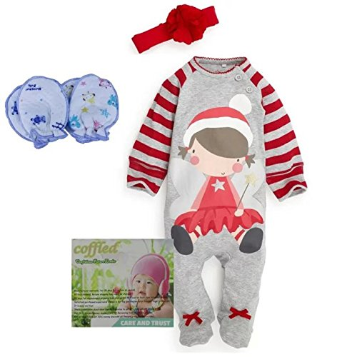 Baby Christmas Cloths Outfits Boy Girl Kids Romper Hat Cap Set Gift for 0-2y (3-6 months, girls) (Sailor Outfit Ebay)