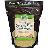 Now Foods Real Food Organic Golden Flax Seed Meal - 22 oz