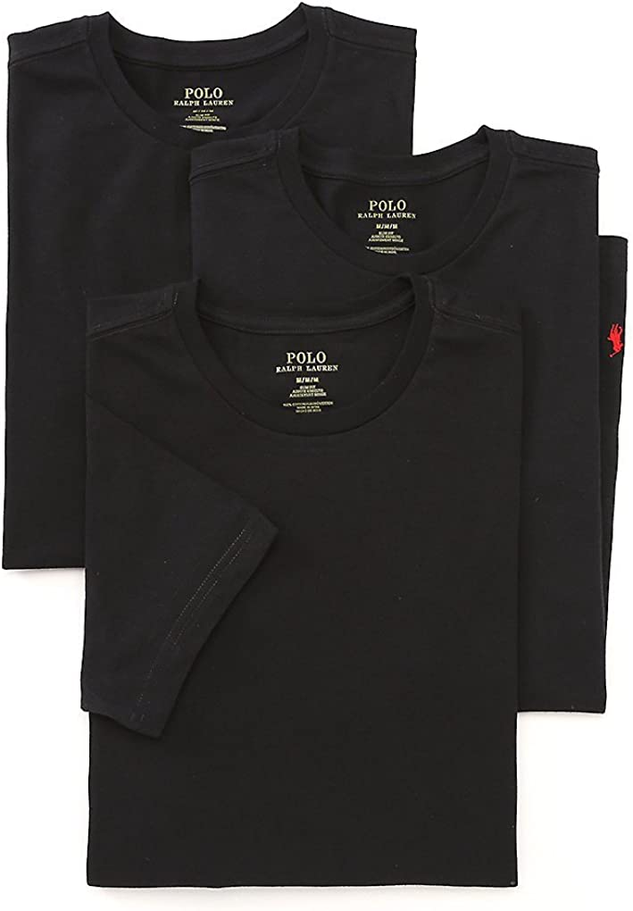 Polo Ralph Lauren Slim Fit Crew Neck Undershirts 3-Pack: Amazon.es ...