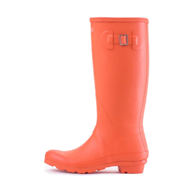 COSTYLE Women's Mid Calf Waterproof Skidproof Rubber Solid Color Garden Rainboots