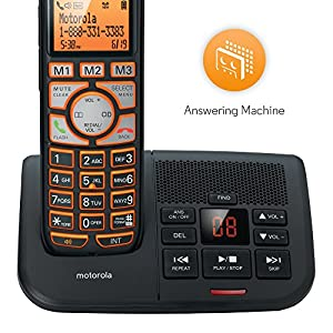 Motorola DECT 6.0 Cordless Digital Home Phone with 4 Handsets, Caller ID and Answering System K704B - Black