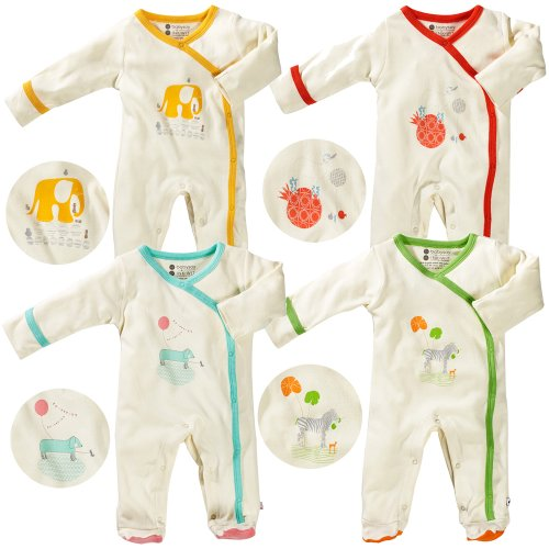 Babysoy Organic Cotton O Soy Footie Bodysuit