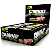 MusclePharm Low Sugar, Low Carb, Gluten Free, White Chocolate Raspberry Combat Crunch Protein (12-Bars)