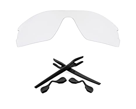8b0576cf57 Radar EV Pitch Replacement Lenses Accessories Kit Clear Black by SEEK fit  OAKLEY