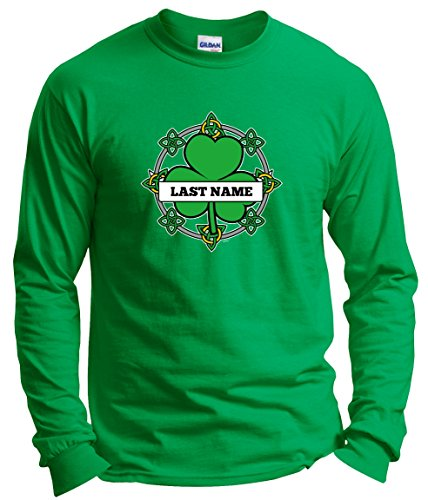 ST Patricks Day accessories ST Patricks Day Name Celtic Knot Irish Pride Custom Long Sleeve T-Shirt XL Green (Sleeve Pride Womens Long)