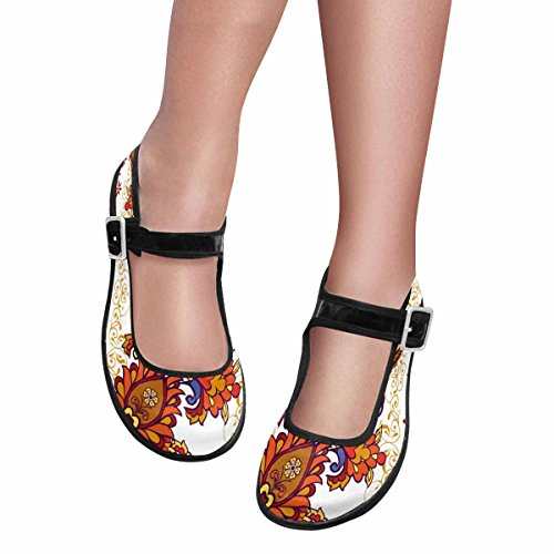 InterestPrint Womens Comfort Mary Jane Flats Casual Walking Shoes Multi 11
