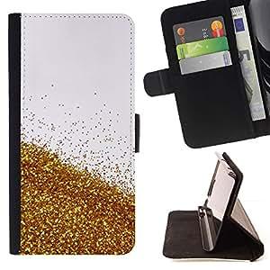 For HTC One M8 Case , Cerveza Cielo Naturaleza abstracta Bling Blanca- la tarjeta de Crédito Slots PU Funda de cuero Monedero caso cubierta de piel