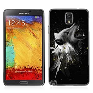 Designer Depo Hard Protection Case for Samsung Galaxy Note 3 N9000 / Cool Abstract Wolf