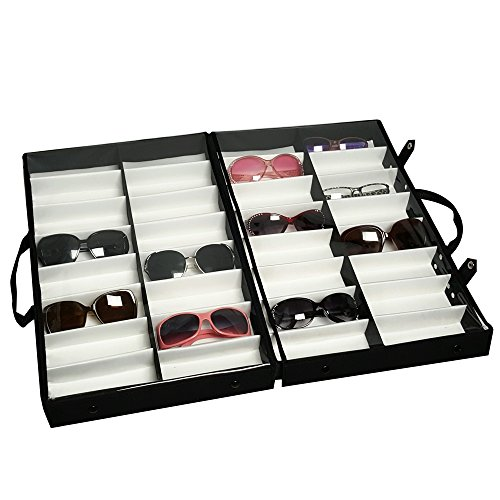 Mooca Eyewear Carrying Cases w Clear Lid for 32 Frames