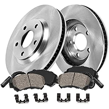 Rear Drilled And Slotted Brake Rotors For 2006 Mercedes Benz E350 RWD Sedan