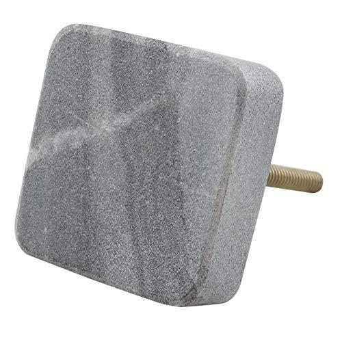 - Indianshelf Handmade 2 Piece Stone Grey Square Wardrobe Pulls Cabinet Knobs
