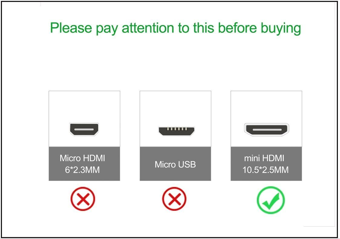 10 Feet Basics High-Speed Mini-HDMI to HDMI TV Adapter Cable