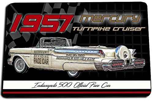 BrotherhoodProducts 1957 Mercury Turnpike Cruiser Indy 500 Pace Car Door Mat Rug