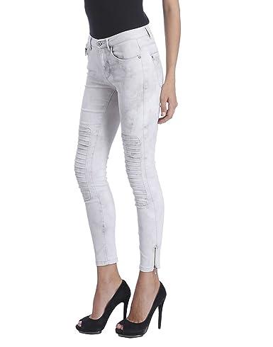 ONLY Damen Jeans Leggings onlROYAL REG SK Ankle Race PIM 403 Biker grau Denim  knöchellang  Amazon.de  Bekleidung 72fd811c31
