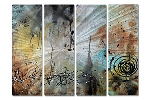 Desert Surroundings' Metal Wall Hanging Abstract Metal Panel Art