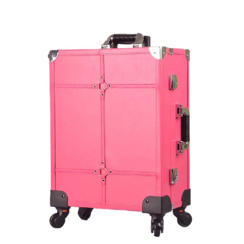 2018新発 YD メイクボックス 白色の光を調節可能な化粧ケースのランプ付きプルロッド大型ミラープロフェッショナルマルチレイヤー取り外し可能なユニバーサルホイール21×39.5×49.5cm 2色/&/& (色 (色 : Pink) B07NZ32NC6 B07NZ32NC6 Pink, オヤマシ:ab1c7ca4 --- mcrisartesanato.com.br