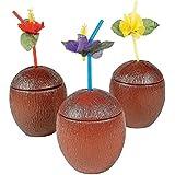 Fun Express Bulk Coconut Cups Plastic (1 Dozen)