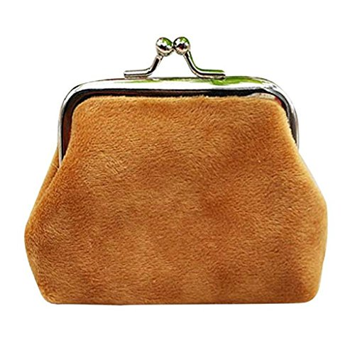 cute Mini Wallet 2018 Clutch Hasp Lady Brown small Noopvan Bag wallets Coin Wallet Corduroy Clearance Purse wp7qxfnX
