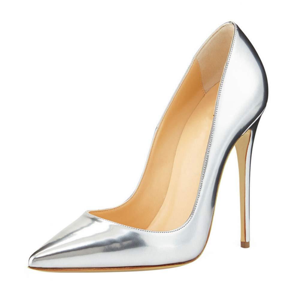 Ai Ya-liangxie Büro Schuhe Frauen Pumpe Mode Thin High Heel Leder Schuhe Classic Gold Damen Pumps Schuhe Große Größe