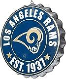 Los Angeles Rams NFL Bottle Cap Wall Sign