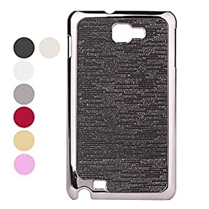 Electroplating Lines Style Protective Case for Samsung i9220 (Assorted colors) , White