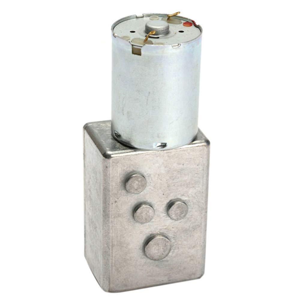 Pannow DC 12V 100rpm motor reductor de engranajes de gusanos caja de cambios de metal motor de alto torque
