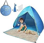FBSPORT Pop Up Tent(Beach Tent),2-3 Person UV Lightweight Waterproof Foldable Beach Camping Tent with Sun Shel