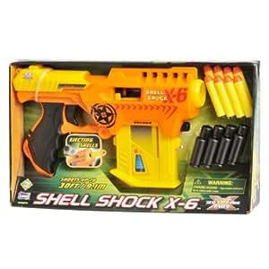 Pistola Disparo Rapido Shell Shock Dardos Foam