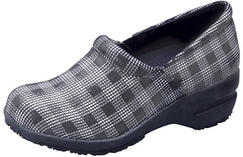 Cherokee Footwear PATRICIA Women's Step In Shoe Blk/Wht Plaid 7 M (Plaid Step)