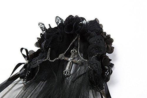 AHW004 Gothic bride cross veil by DARK IN LOVE (Image #1)