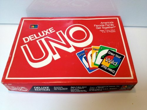 1986 Vintage Deluxe Uno with Card Tray and Score ()